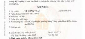 Thủ tục làm phiếu lí lịch tư pháp cho người nước ngoài