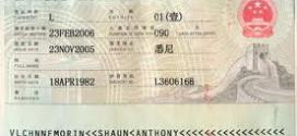 Giá làm visa Trung Quốc
